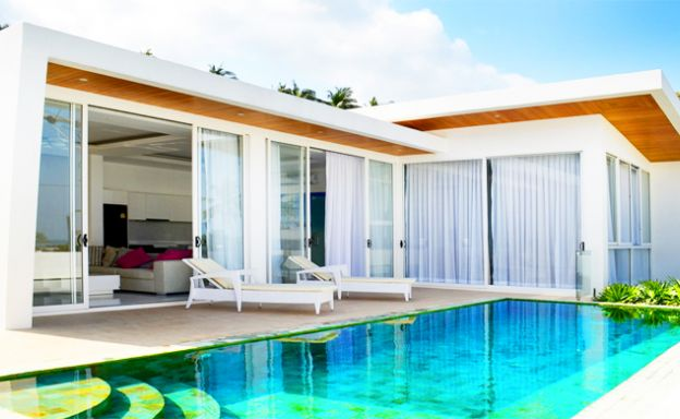 Modern Sea View 2 Bedroom Pool Villa in Chaweng