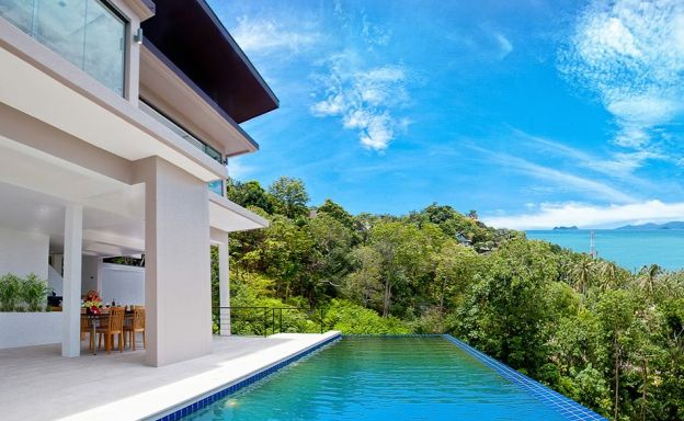 Amazing Sea View Luxury Pool Villa on Bangpor Hills