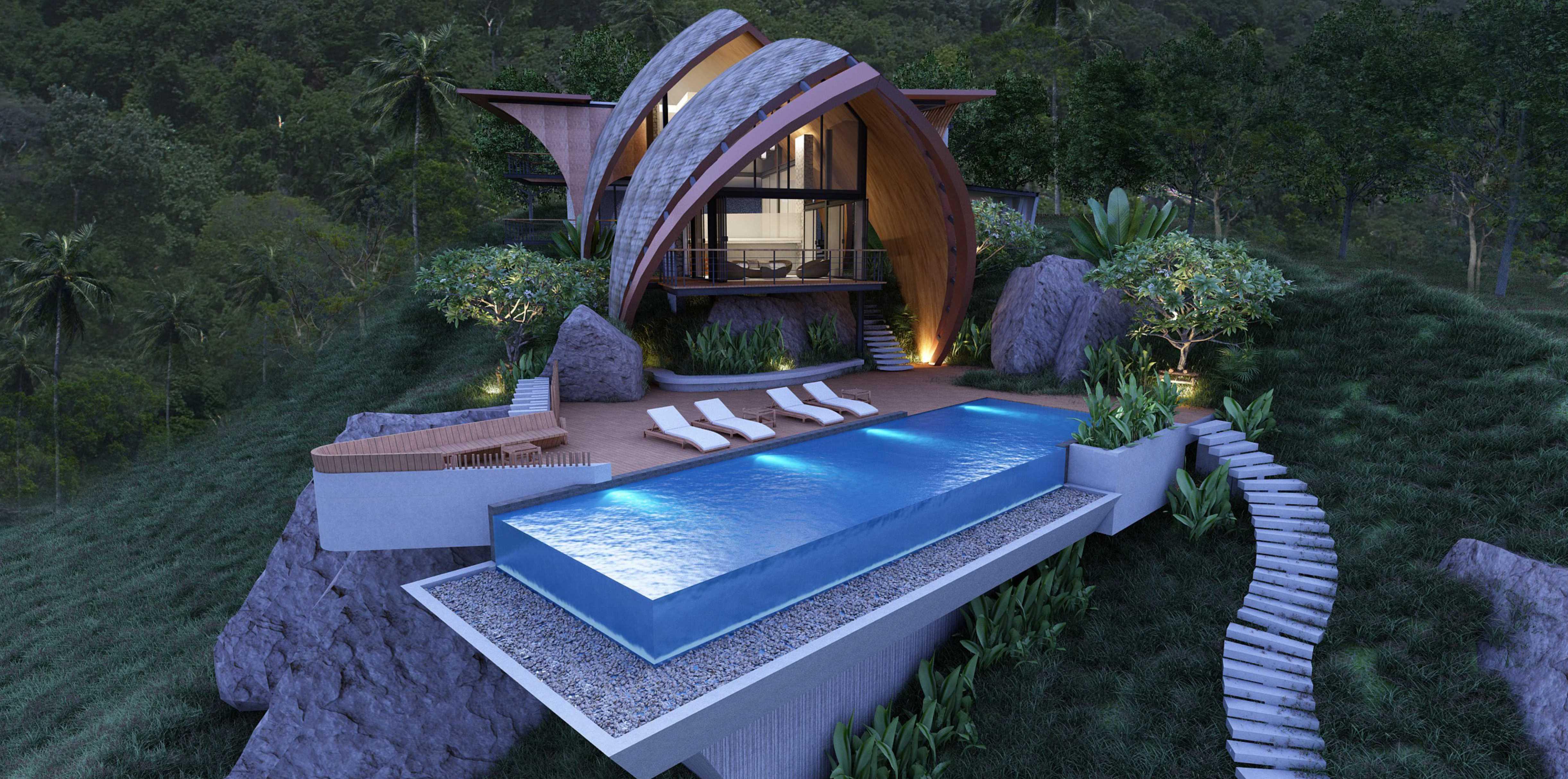 Amazing Sea-view Luxury Villa on Lamai Hillside-1