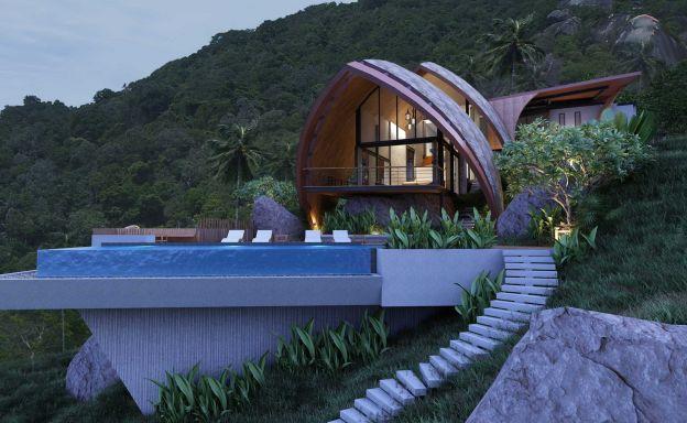 Amazing Sea-view Luxury Villa on Laem Set Hillside