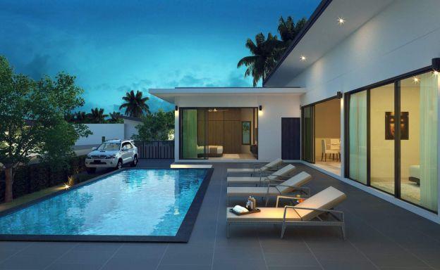 Modern 3 Bedroom Pool Villas for Sale in Maenam