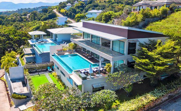 Luxury 6 Bedroom Sea-view Villa on Choeng Mon Peak