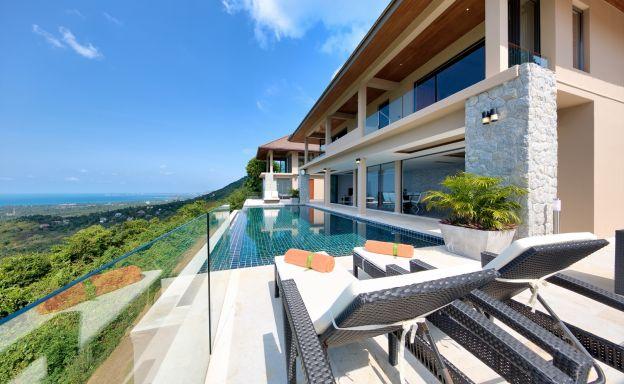 Unique 7 Bedroom Sunset Sea-View Luxury Pool Villa