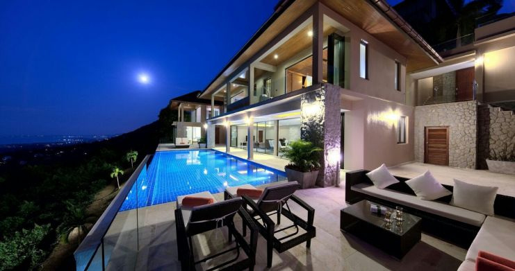 Unique 7 Bedroom Sunset Sea-View Luxury Pool Villa-44