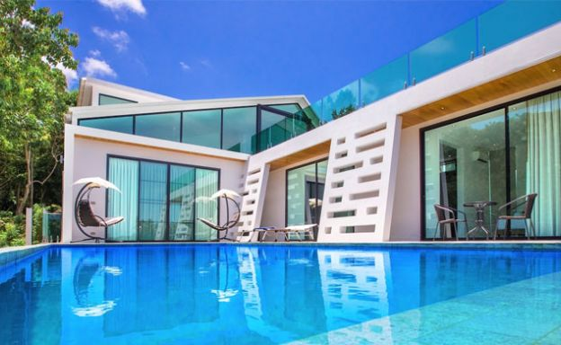 Luxury 4 Bedroom Sea-view Pool Villa on Lamai Hillside