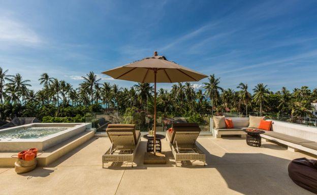 Beautiful 6 Bed Luxury Sea View Villa by Ban Tai Beach
