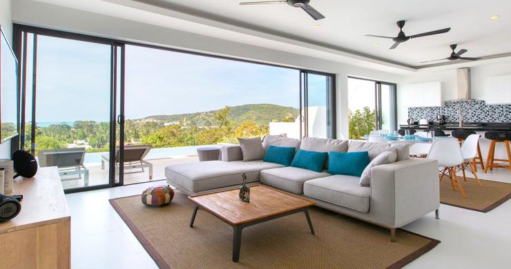 New Ocean View Luxury Pool Villas on Bophut Hillside-4