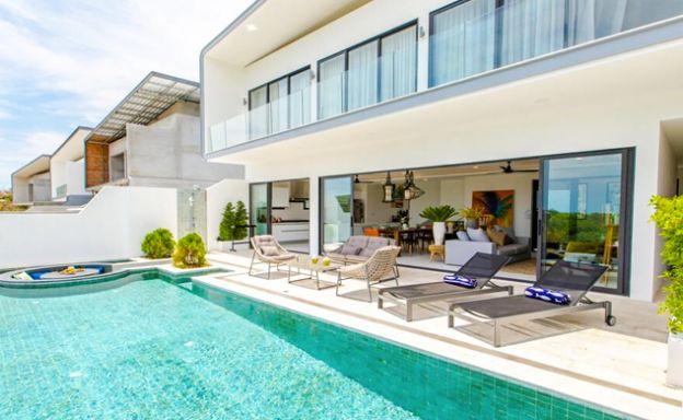 New Ocean View Luxury Pool Villas on Bophut Hillside