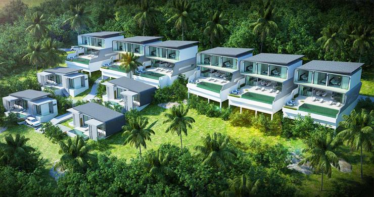 New 2 Bedroom Modern Pool Villas in Bophut Hills-16