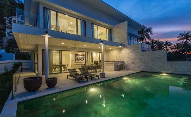 Sunset Sea View Duplex Pool Villas on Bang Por Hillside