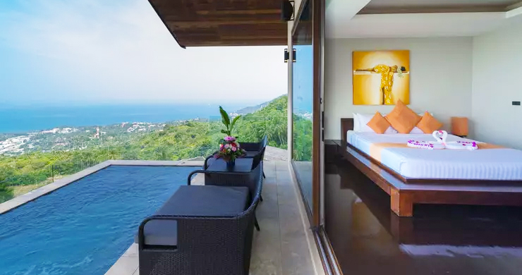 42% OFF! 4 Bed Luxury Sea View Villa in Chaweng Noi-7