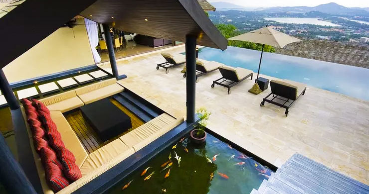 42% OFF! 4 Bed Luxury Sea View Villa in Chaweng Noi-14