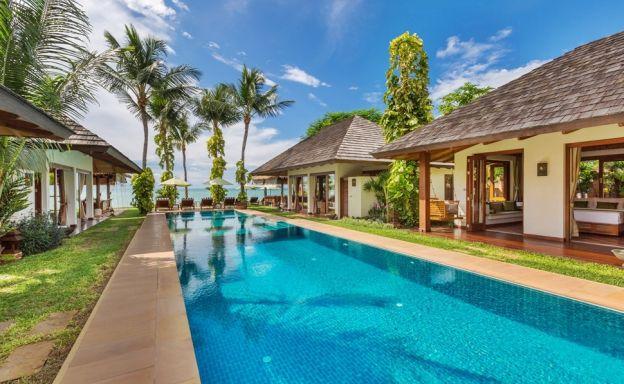 Beautiful Beachfront Tropical Pool Villa in Plai Laem
