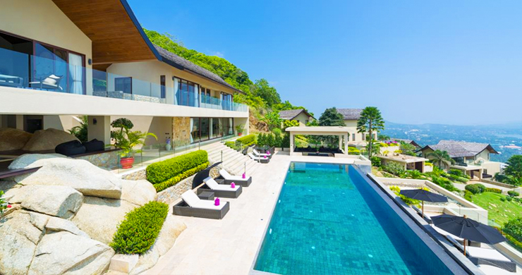 42% OFF! Spectacular 5 Bed Luxury Sea View Villa in Chaweng Noi-1