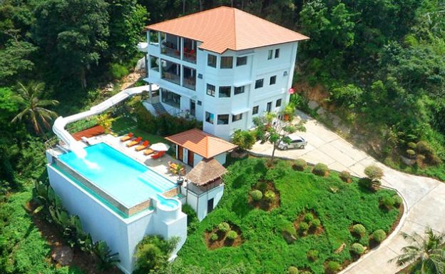 Unique Waterslide Tropical Pool Villa in Bang Por