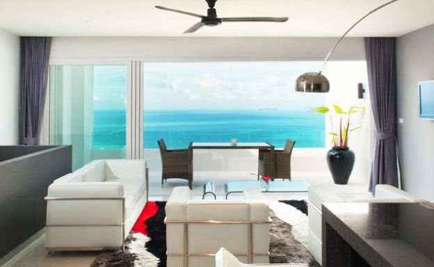Luxury 2 Bed Infinity Sea view Apartment in Bang Por