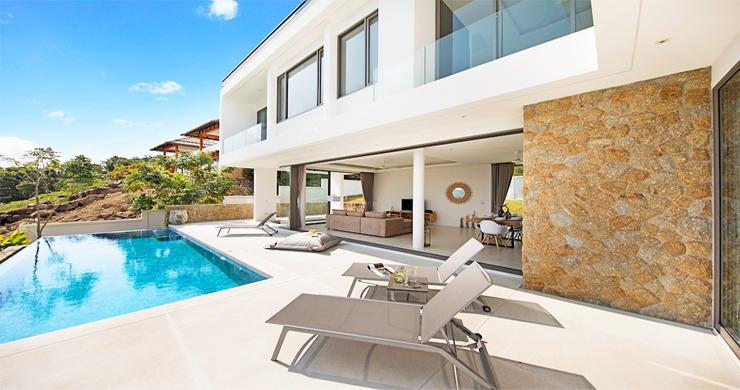 3 Bed Sea View Pool Villa big Garden in Bophut-1