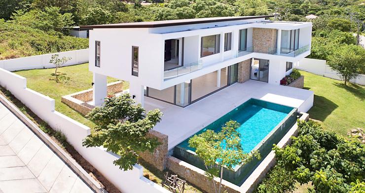 3 Bed Sea View Pool Villa big Garden in Bophut-17