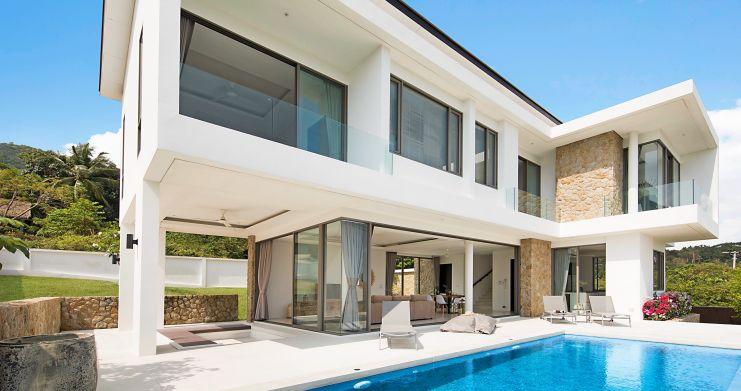 3 Bed Sea View Pool Villa big Garden in Bophut-2