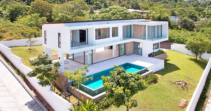 3 Bed Sea View Pool Villa big Garden in Bophut-9