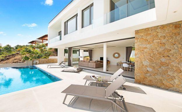 3 Bed Sea View Pool Villa big Garden in Bophut