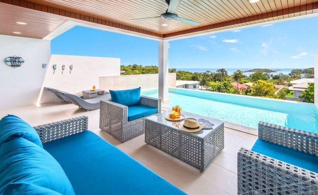 Modern Sea View Villas Close to Choeng Mon Beach