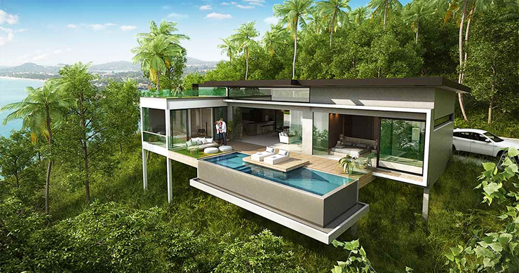 Exclusive New Sea View Pool Villas in Chaweng Noi-2