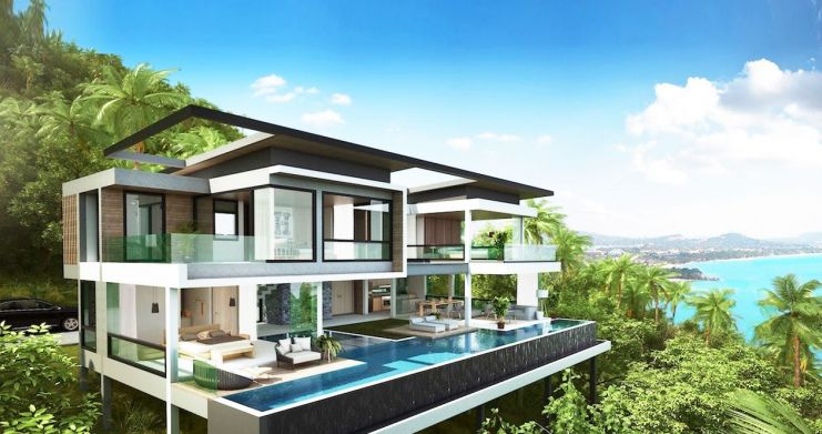 Exclusive New Sea View Pool Villas in Chaweng Noi-3