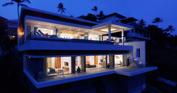 Modern 6 Bed Sea View Villa for Sale in Chaweng Noi-22