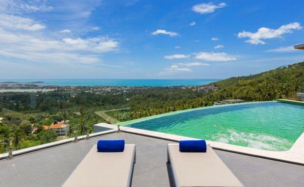 Luxury 3 Bedroom Sea View Pool Villa in Chaweng Hills