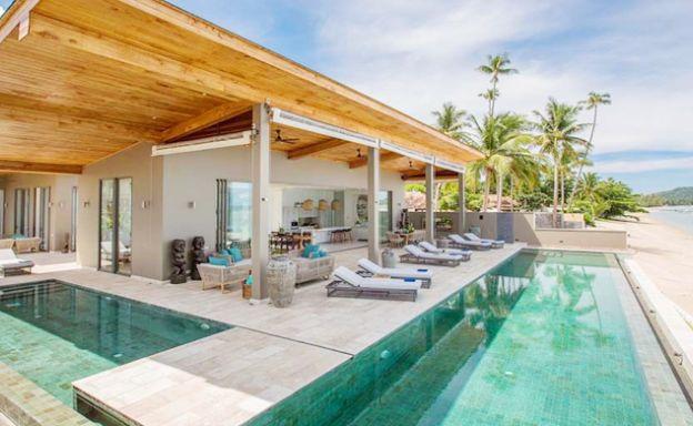 Contemporary 6 Bedroom Beach Front Villa in Laem Sor