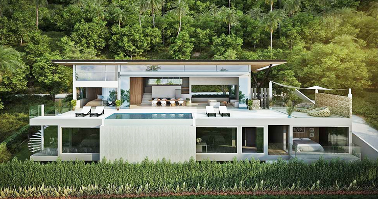 Epic 5 Bed Sea view Luxury Villa on Chaweng Noi Bay-2