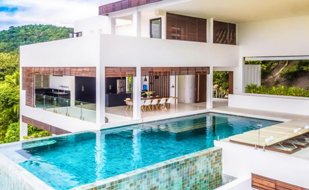 Ultra Modern 5 Bedroom Sea View Villa in Chaweng Noi