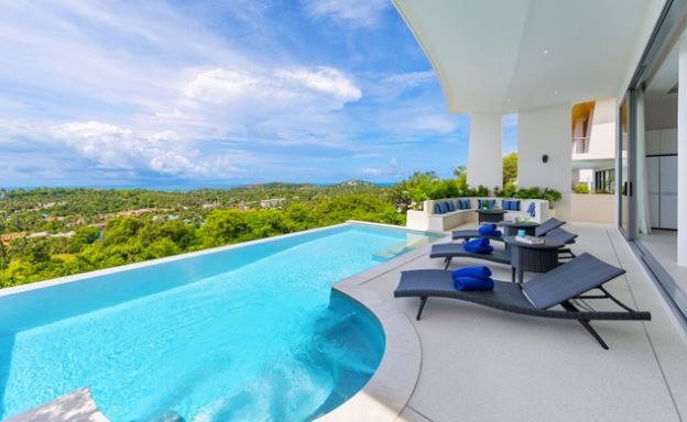 3-4 Bedroom Luxury Pool Villa for Sale in Plai Laem