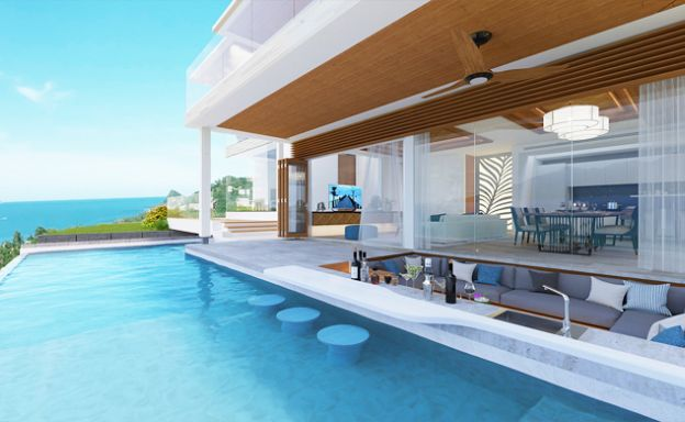 New Luxury Sea View Pool Villas on Bang Por Hillside