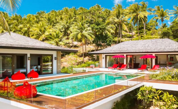 Balinese 3 Bed Luxury Sea-view Villa in Chaweng Noi