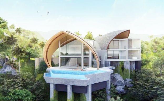 Spectacular 2-3 Bedroom Sea View Villas in Laem Set
