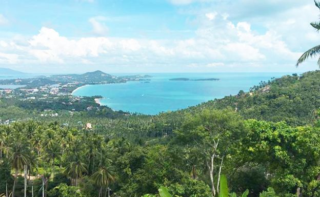 Panoramic Sea View Land in Chaweng Noi