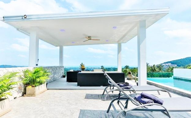Modern 4 Bed Panoramic Sea View Villa in Chaweng